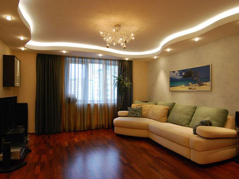 Потолок в гостиной 20 кв.м дизайн фото